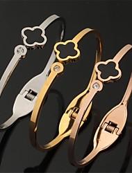 Недорогие -u7®fancy цветок 316l титана стали манжета браслет 18k розовое золото покрыло ювелирные изделия