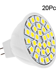 2W GU5.3(MR16) LED Spotlight 30 SMD 5050 150-200 lm Warm White Cold White 3500/6000 K DC 12 V 20pcs