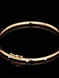 cheap -Synthetic Diamond Bangles - Rhinestone, Imitation Diamond Vintage, Party, Work Bracelet Gold / Silver For