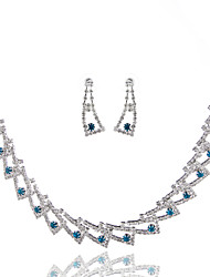 cheap -Women's Rhinestone Wedding Special Occasion Anniversary Birthday Engagement Gift Daily Alloy Earrings Necklaces