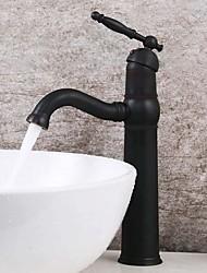 Недорогие -Античный стиль Нефть потер бронзовая отделка латунь ванной комнате раковина кран