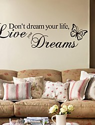 cheap -Words & Quotes Wall Stickers Plane Wall Stickers Decorative Wall Stickers,PVC Material Removable Home Decoration Wall Decal