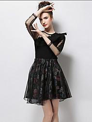 povoljno -Žene Širok kroj Classic & Timeless Suknje - Jedna barva
