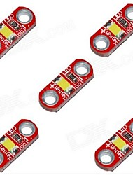 cheap -HZLED 5V 40mA 3000K 400-500MCD Warm White Mini 3000K LED Module - Red (5 PCS)