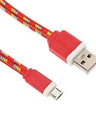 micro usb vævning noodle oplader kabel telefonkabler& adaptere