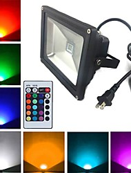cheap -1900 lm LED Floodlight 1 leds High Power LED Remote-Controlled RGB AC 85-265V