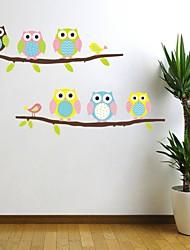 Недорогие -настенные наклейки Наклейки на стены, несколько птиц игры с деревом пвх наклейки стены.