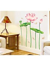 abordables -pared calcomanías pegatinas de pared, pvc loto del estilo pegatinas de pared