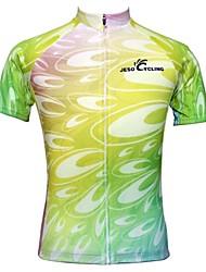 levne -JESOCYCLING Dámské Krátký rukáv Cyklodres Jezdit na kole Dres, Rychleschnoucí, Prodyšné