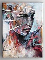 cheap -Hand-Painted People Vertical Canvas Oil Painting Home Decoration One Panel