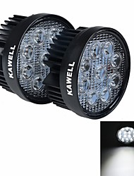 cheap -2 pcs KAWELL 27W LED Vehicle Waterproof Spot Light 1800 Lumens Black Frosted Round Shape LED Working Light