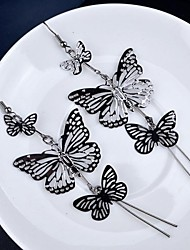 cheap -Women's Gold Plated Drop Earrings - Multi Layer Butterfly Animal For