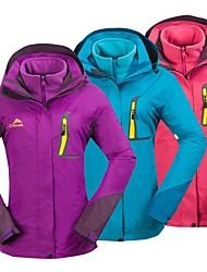 cheap -Cikrilan Women's Hiking 3-in-1 Jackets Outdoor Winter Waterproof Thermal / Warm Windproof Fleece Winter Jacket 3-in-1 Jacket Top Single
