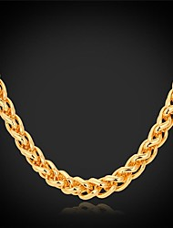 cheap -Women's Gold Plated Alloy Choker Necklace Chain Necklace - Gold Plated Alloy Fashion Necklace For Wedding Party Daily Casual