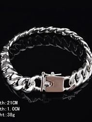 cheap -Fashion Sterling Silver Men's Bracelet Jewelry Christmas Gifts