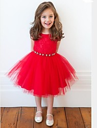 Girl's Dress Princess Dress Dream Girls Summer Dress Skirt Red Dresses