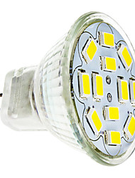 2W GU4(MR11) LED Spotlight 12 SMD 5730 240-260 lm Warm White Cold White 3500/6000 K DC 12 V 1pc