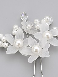 cheap -Women's Flower Girl's Crystal Alloy Imitation Pearl Acrylic Headpiece-Wedding Special Occasion Hair Pin