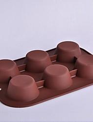 6-Loch-Kreisform Kuchenformen, Silikon 26,5 × 18 × 3 cm (10,4 × 7,1 × 1,2 Zoll)