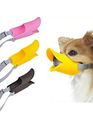 abordables -Perro Bozales Ajustable / Retractable Antiladrido Seguridad Un Color Silicona Amarillo Marrón Rosa
