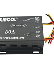 cheap -Xincol® Vehicle Car DC 24V to 12V 30A Power Supply Transformer Converter-Black
