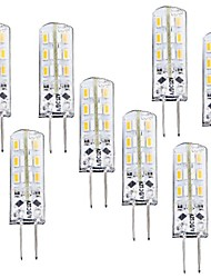 abordables -1W G4 Bombillas LED de Mazorca T 24 leds SMD 3014 Regulable Blanco Cálido 100-120lm 3000-3200K DC 12V