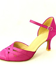 Women's Dance Shoes Modern/Standard Shoes Satin Heel Black/Blue/Yellow/Pink/Purple/Red/White/Fuchsia Customizable