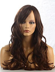 Capless High Quality Synthetic Straight Brown Fashional Hair Wig