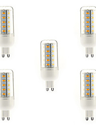4W G9 Ampoules Maïs LED T 36 diodes électroluminescentes SMD 5730 Blanc Chaud 350-400lm 3000-3500K AC 100-240V
