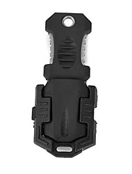 Недорогие -Жук Стиль Открытый портативный нож выживания с ремешком - черный