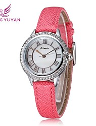 cheap -Women's Fashion Watch / Wrist Watch Hot Sale PU Band Charm White / Red / Brown