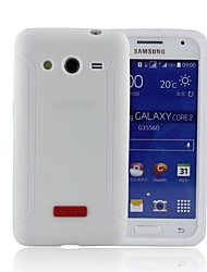 Estojos de silicone xmart® macio para samsung core2 g355h galaxy j série casos / capas