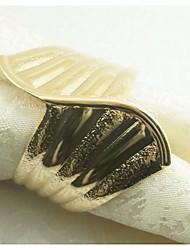 anel de metal anel de guardanapo, ferro, 1.77inch, conjunto de 12
