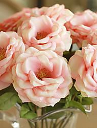 abordables -Fleurs artificielles 2 Une succursale Style moderne Roses Fleur de Table