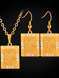 billiga -u7®allah hängsmycke halsband Pärlhalsband 18k äkta guld platina strass mode smycken set