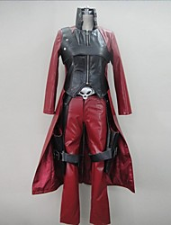 Inspired by Devil May Cry Cosplay Video Game Cosplay Costumes Cosplay Suits Patchwork Red Long SleeveCoat / Pants / Gloves / Belt / Shoe