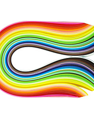cheap -400PCS 1CMx53CM Quilling Paper(40 Color x10 PCS/Color) DIY Craft Art Decoration