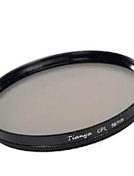 tianya® 58 milímetros CPL filtro polarizador circular para Canon 650D 700D 600D 550D 500D 60D 18-55mm lente