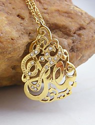 Недорогие -18k золотой покрытием к богу мусульманский кулон
