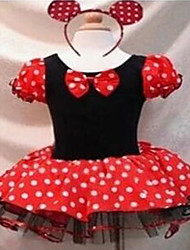 billige -Prinsesse Eventyr Cosplay Kostumer Festkostume Børne Halloween Karneval Nytår Barnets Dag Festival / Højtider Halloween Kostumer Prikker