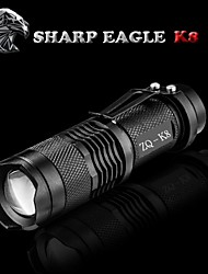 economico -SHARP EAGLE Torce LED LED 500LM lm Modo Cree XR-E Q5 Zoom disponibile Resistente agli urti Impugnatura antiscivolo Ricaricabile