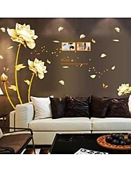 Desenho Animado Romance Floral Adesivos de Parede Autocolantes de Aviões para Parede Autocolantes de Parede Decorativos,Vinil Decoração