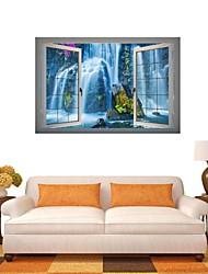 Adesivos de parede adesivos de parede 3d, parede cachoeira decoração adesivos de vinil