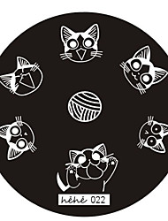 Nail Art Stamp Stamping Image Template Plate hehe Series NO.22