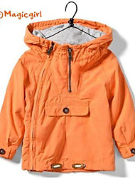 Недорогие -Мальчик Мальчик Куртка / пальто,Однотонный,Смесь хлопка,Весна / Осень
