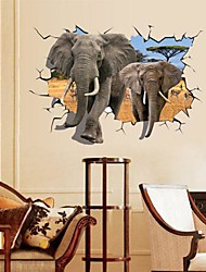 Animals Romance Still Life Fashion Landscape Fantasy 3D Wall Stickers 3D Wall Stickers Decorative Wall Stickers,Paper Material Removable