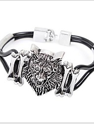cheap -Tina -- European and American Fashion Alloy Lion Leather Bracelet in Party