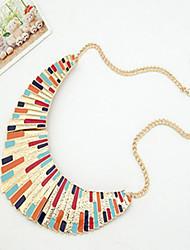 Women's Fan-shaped Colorful Alloy Necklace