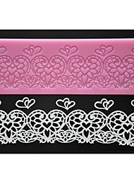 Недорогие -FOUR-C кружева силиконовая подкладка сердце тиснение коврик торт кружева плесень цвет розовый