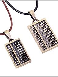 Тина - корейский моды сплава счеты кожа ожерелье пару в партии